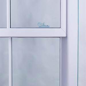 60mm meeting stile on a white sash window