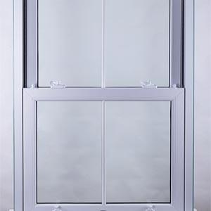 a white sash window