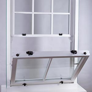 Example of slide and tilt window opening