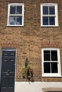Town house with sliding sash windows installed