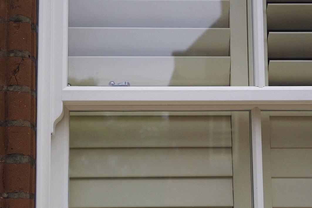 Rothsay vertical sliders sash horn detail