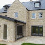 Rear of detached house with sliding sash windows